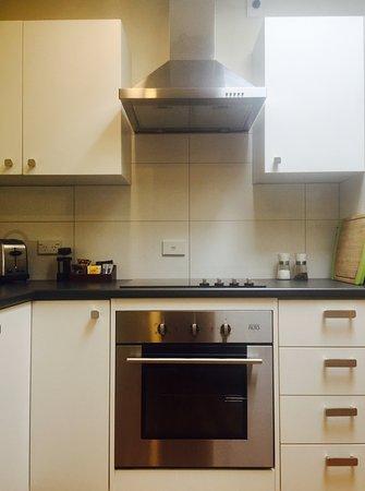 Amberley, Nieuw-Zeeland: kitchen 2-bedroom apartment