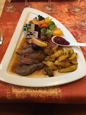 Salouf, Swiss: Steinbock mit Pizokel!