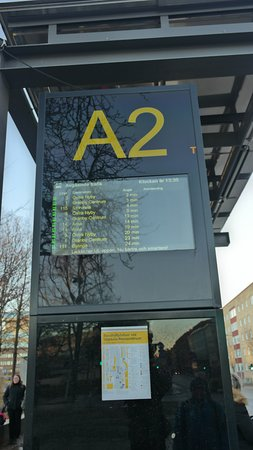 a bus stop to the Gamla Uppsala