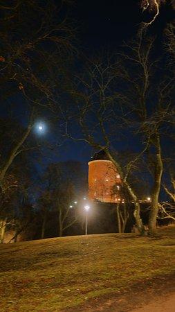 Uppsala, Sverige: a full moon