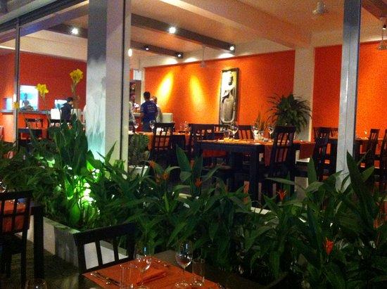 Vue du restaurant depuis la terrasse fleurie - Picture of Taboo ...