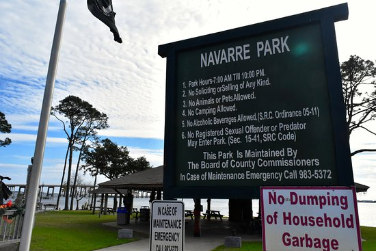 Navarre Beach Park Signs