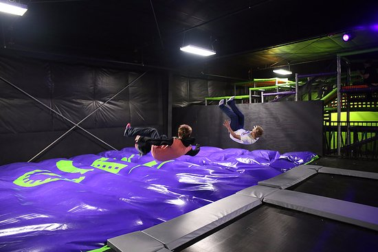 "Action City: Trampoline Park - Airbag ""stunt"" Jump"