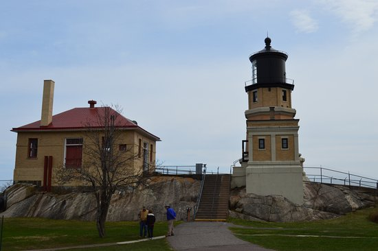Two Harbors, MN: Backview of the lighthouse
