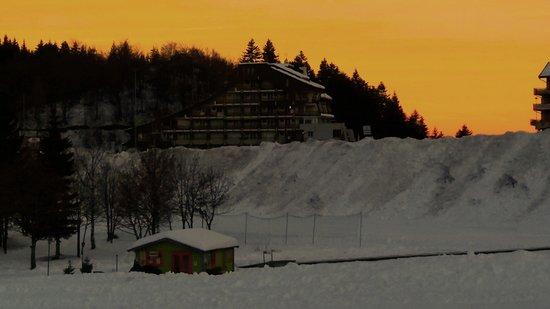 Hotel Laghetto : Tramonto dall'altra parte del terrazzo della camera