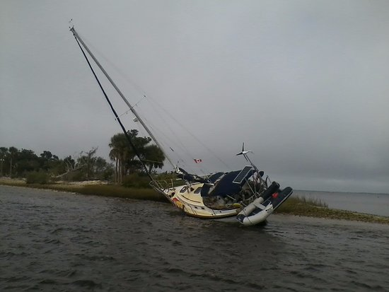 Two boaters from Canada ended up stranded when their boat went aground near Yankeetown.