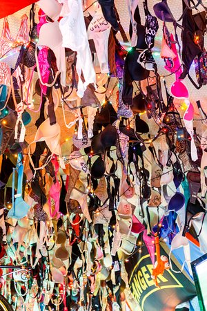 our bra collection in the ceiling - Picture of Uncle Jimmy s Irish ... 14c4f8f93