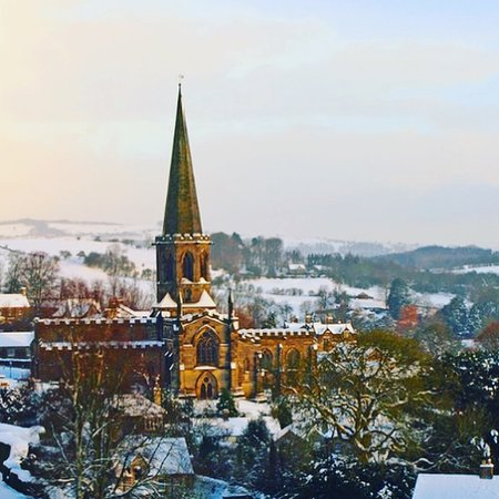 Over Haddon, UK: The local town of Bakewell