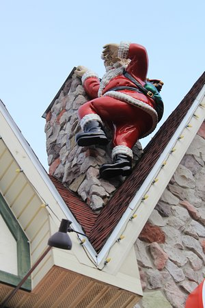 "Santa Claus Post Office: ""You thought a big guy like me couldn't climb the chimney didn't you?."""