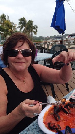 Osprey, FL: Julie with her mussels.