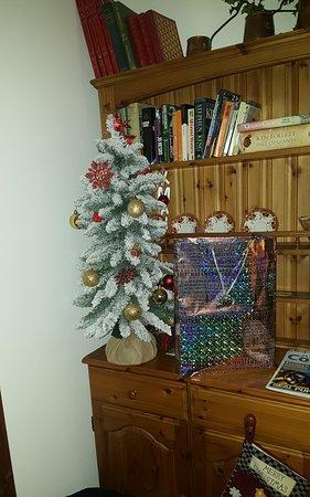 Nercwys, UK: Christmas decorations