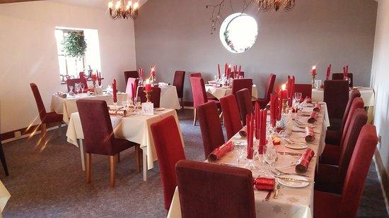 Nercwys, UK: Set up for Christmas dining