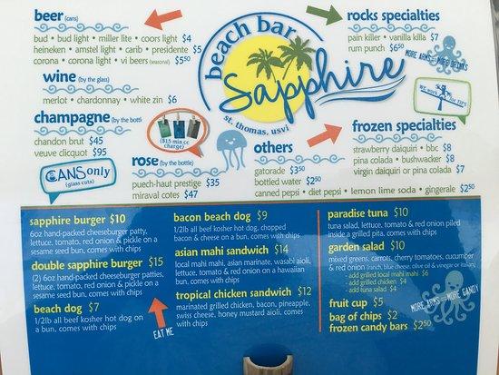 Baja Beach Cafe Pb Menu