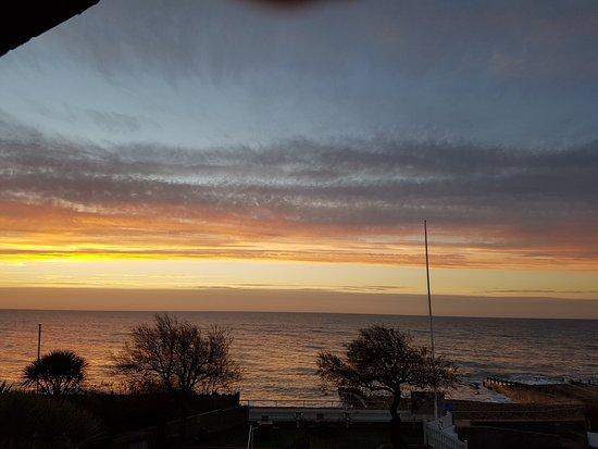 Felpham, UK: View of sunrise from room