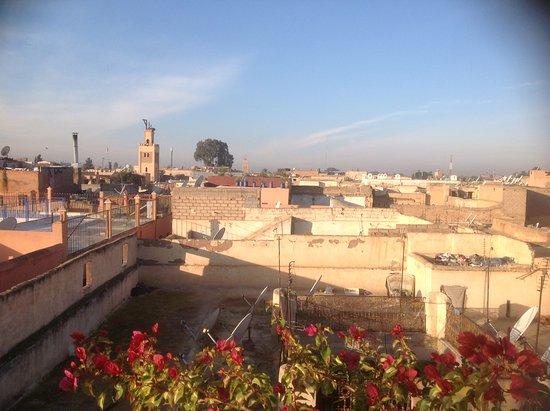 Al Ksar Riad & Spa : Vue de la terrasse