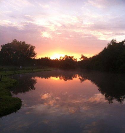 Stalham, UK: Summer sun down .
