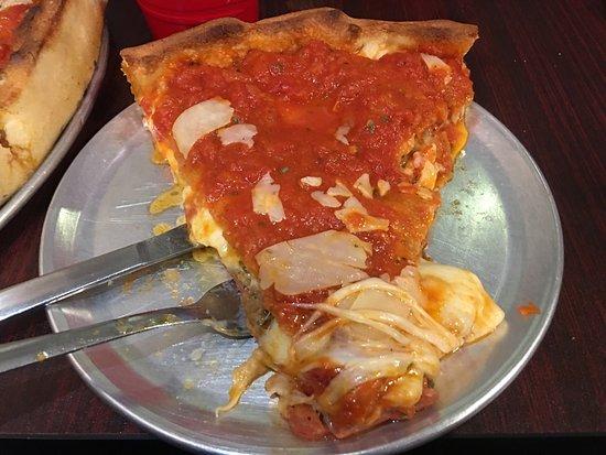 Del Vecchios: Roni,sausage,meatball pie, cheesy garlic bread, Wedge salad. Fantastic!
