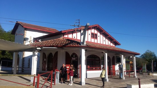 Sare, France : La gare de la Rhune