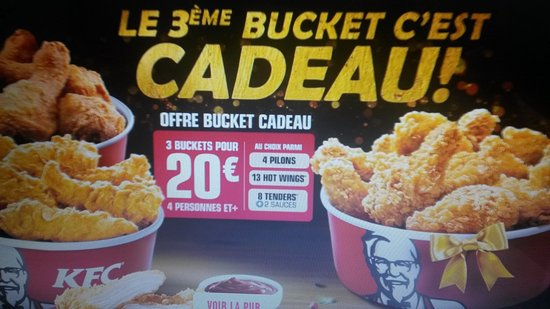 Carte Cadeau Kfc.20161230 191936 Large Jpg Picture Of Kfc La Rochelle