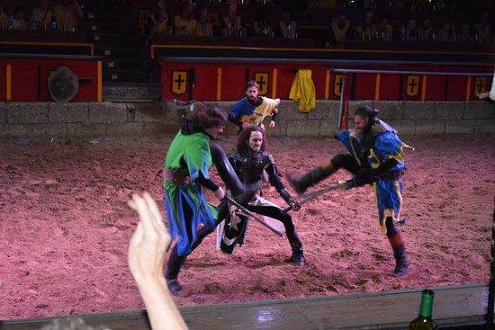 San Miguel de Abona, Spanien: Fight of knights
