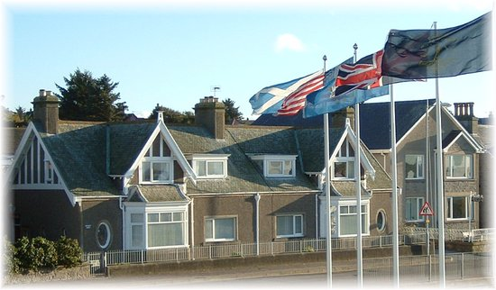 Lossiemouth, UK : View from Moray Golf Clubhouse