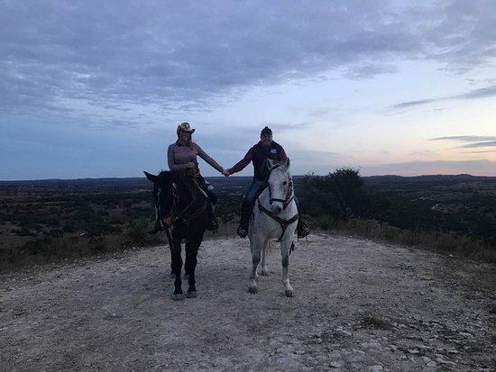 Texas Trail Rides: Beautiful sunset!