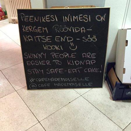 Cafe Mademoiselle: Estonian sense of humor.