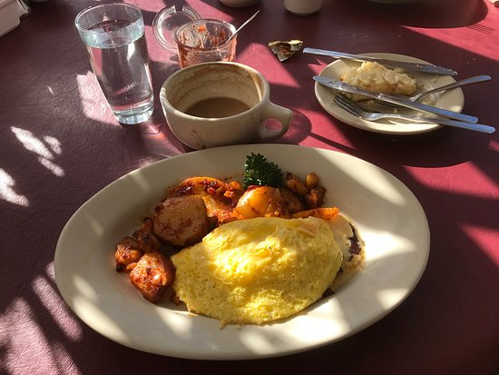 Lucile's: Cheese omelette.