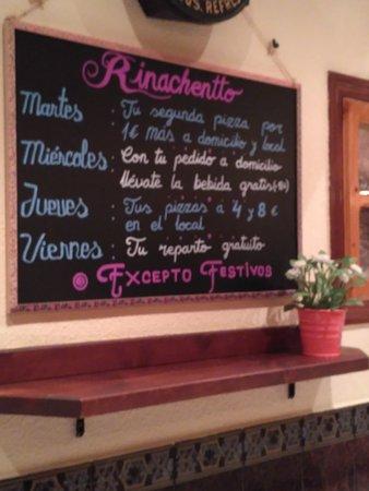 Pizzeria Rinachentto: Promociones