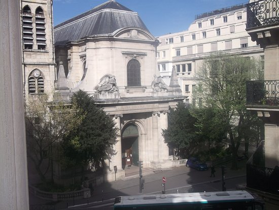 Agora Saint Germain: view from room of Saint Nicolas church