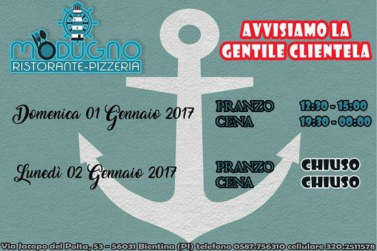 Bientina, Italy: 01 gennaio aperti