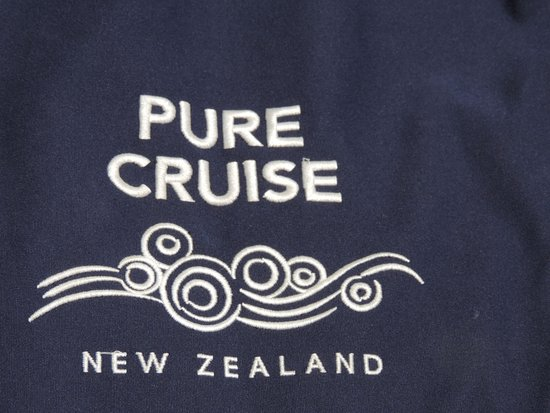 "Pure Cruise - Day Cruises : Our ""bean bag"" seat on the front canvas of the boat"
