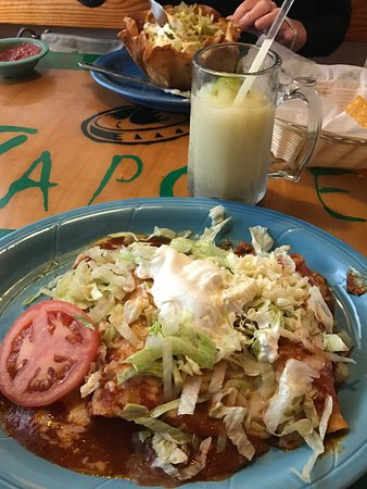 Zapote: My rita was not the best I had. It was more yellow than green. I liked the large water glasses,