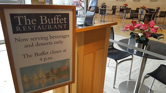 Buffet at the Kimbell: You can only get beverages and desert after lunch time, but it is fine