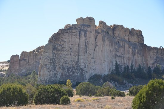 Ramah, NM: El Morro North and West face with view of walking trail