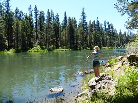 Flyfishing at La Pine State Park