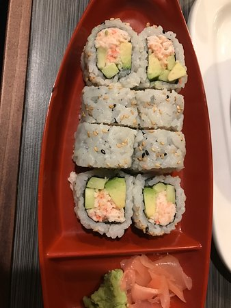 Mountain Home, AR: Hibachi grill, California roll and Onion soup