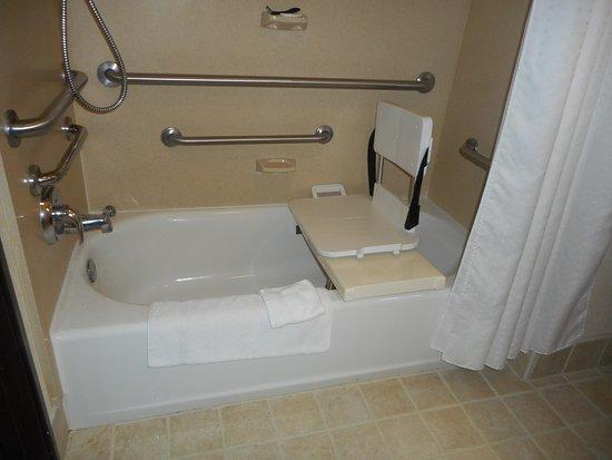 Holiday Inn Express Hotel U0026 Suites   Nacogdoches: Room 221 ADA Room With  Bath Tub