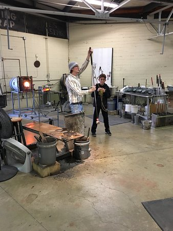 Sunspots Studios & Glassblowing : My son and I had a great time at Sunspots.