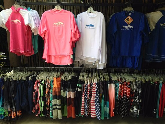 Gift shop women's swim suits - Picture of Discovery Cove, Orlando ...