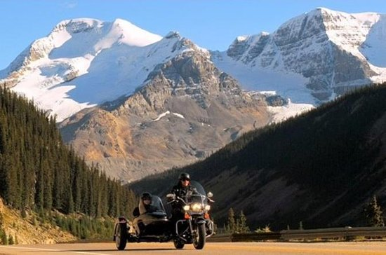 Icefields Parkway Sidecar Ride and Champagne Helicopter Flight