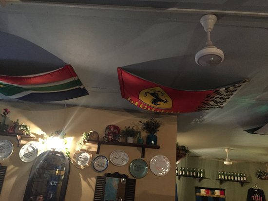 The Mad Italian : Flags on the ceiling