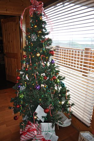 hearthside cabin rentals this was their christmas tree no other decorations