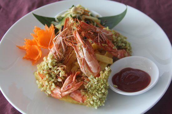 Deep Fried Tiger Drawns In Green Sticky Rice Picture Of Viet
