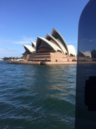 Manly Ferry: View of the Opera House, as the ferry passes by.