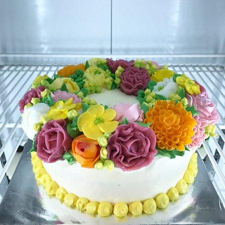 Awesome Flower Butter Cake Picture Of Melissa Bakery Mataram Tripadvisor Personalised Birthday Cards Beptaeletsinfo