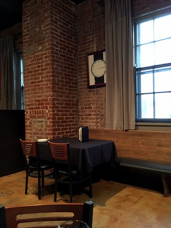 Norman, OK: Typical table setting inside Scratch Kitchen.