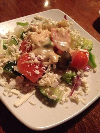 Greek Islands Restaurant III: The salad was good.
