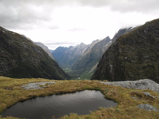 Milford Track: view from Mackinnon Pass