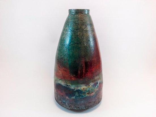 Ceramica Raku grande vaso in ceramica raku - picture of la bottega 36
